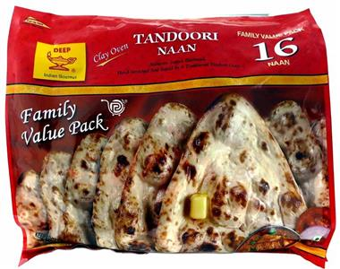 Deep Frozen Tandoori Naan Family Pack 16Pcs